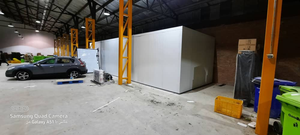 مراحل ساخت سردخانه اسنپ