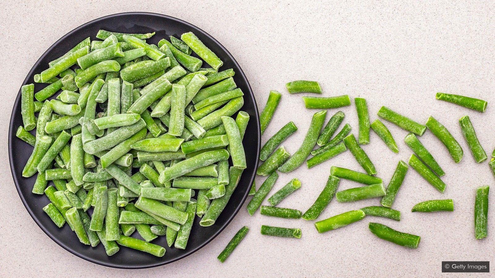 لوبیا سبز در سردخانه
