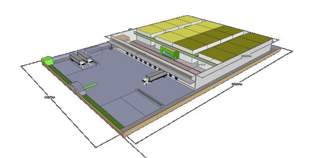 نقشه سه بعدی سردخانه